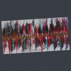 """Toile abstraite titrée """"Bulles et plumes"""" peinte par Johanne Lepage - JL Soft Arts ( acrylique fluide, coulage )"""